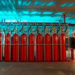 Sistema contra incêndio de co2