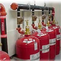 Sistema contra incêndios gás inerte